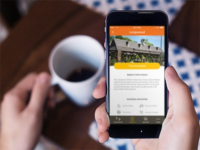SunRail redesign concept - Station Details ux ui sunrail redesign mobile ios app