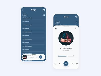 Music player app design xd design ui ux  app mobile ios android mobile ux ui product design product music player music app music