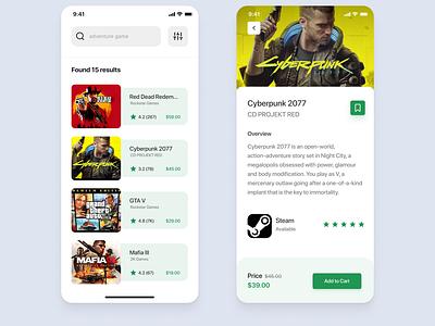 Games app xd design figma creative app design product design design app ux ui steam games