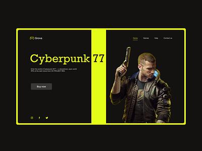Grova   Game Store UI figma dark website web leading cyberbunk77 app xd design creative product design design ux ui games game