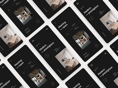 Dir   Interior design app UI branding dark interior app xd design creative product design design ux ui