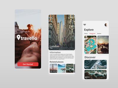 travello app figma xd design ui travel animation app ux