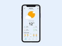 Weather Note Calendar app concept