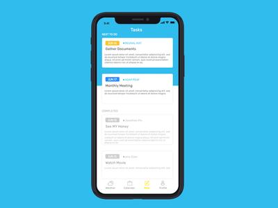 Notes Mock application app ui app user interface uiux design uiuxdesign uidesign uiux blue yellow notes note notification app mockup app design ui ux minimal mockup tasks task manger