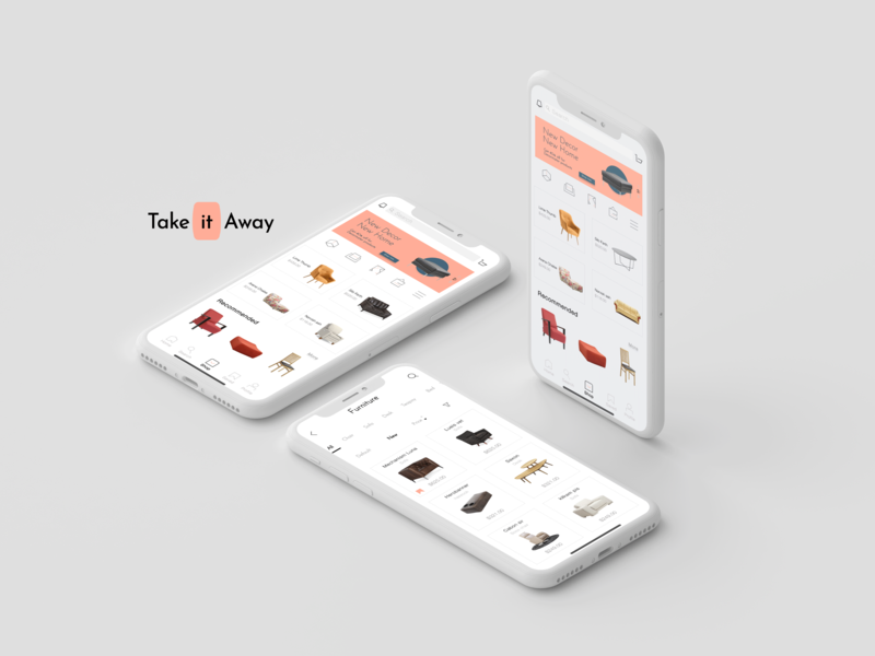 Application takeaway redesign interior mobile app mobile colors simple landing page ui ecommerce app uiuxdesign marketing agency marketing we design user experience user interface clean minimal logo ui ux brand identity