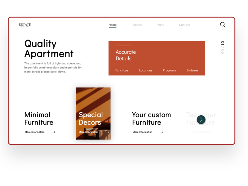 Real estate project we design home startup business future identity branding ui design visuals responsive website saas b2b minimal landingpage warm modern clean realestate