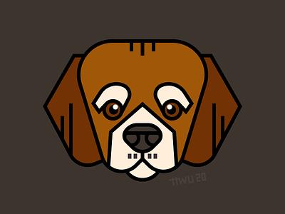 Beagle vector illustration flat dog