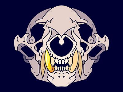 Skull of the Badger King badger skull animal vector flat illustration