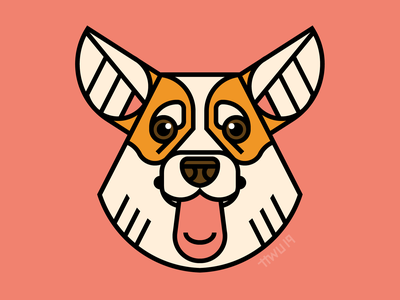 Corgi vector illustration flat dog corgi