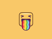 Emoji - Rainbow Tongue