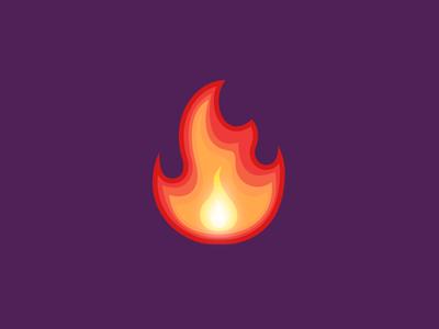 Emoji - Fire red hot icon fire emoji opera