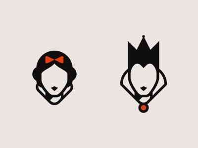Snow White & The Evil Queen red culture pop portrait princess disney queen evil white snow