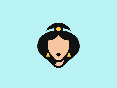 Jasmine blue aladdin jasmine princess portrait pop disney culture