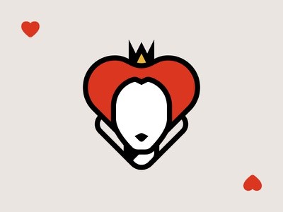 Queen of Hearts illustration game cards playing heart red queen wonderland adventure alice