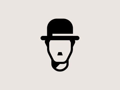 Charlie Chaplin moustache culture minimal portrait symbol movies hat film cinema chaplin charlie camera