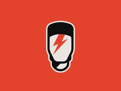David Bowie lightning red music portrait minimal stardust ziggy tribute icon david bowie artist