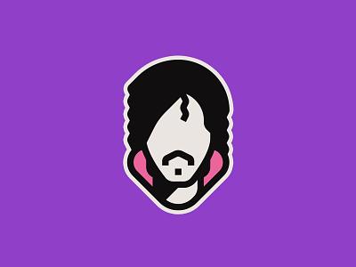 Prince sticker pop music minimal portrait violet rain purple prince