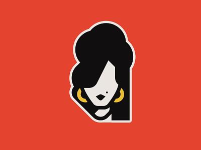 Amy Winehouse singer jazz vocalist woman sticker black back red winehouse amy
