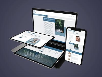 Website for Alberta Talks Pain medical website design medical design chronic pain website mobile freelance design ui branding graphic design design