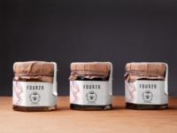 Jars of cannabis infused honey