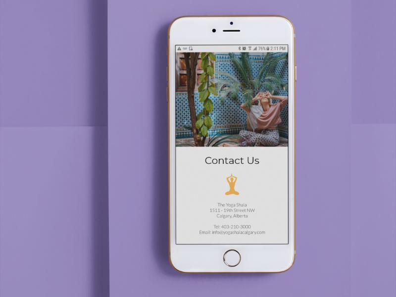 Yoga Shala Mobile Version website design graphic design mobile version yoga studio responsive design