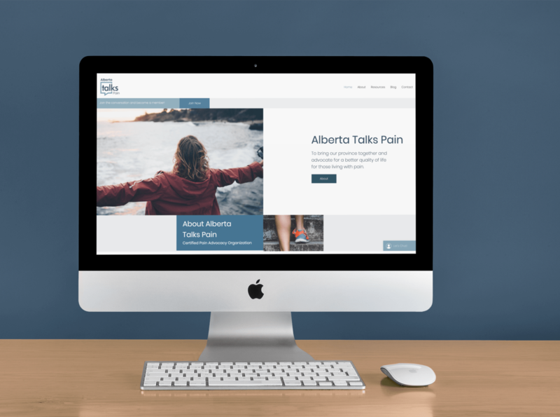 AlbertaTalksPain Home web design website illustration branding graphic design design