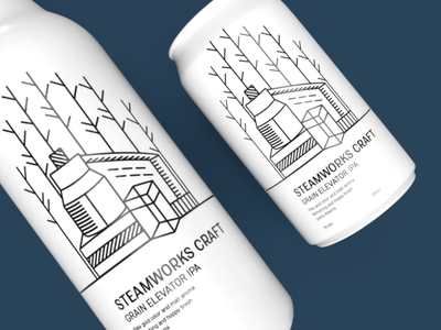 Steamworks Craft Brewing Co. adobedimension product design brand identity packagingpro packagingdesign design branding graphic design