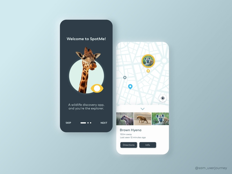 SpotMe | A Wildlife Discovery App ui design ui  ux illustrator xd ux design app ux ui design