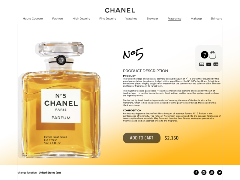 Chanel 5 Parfum Grand Extrait By Ilya Mikhnyuk Dribbble Dribbble