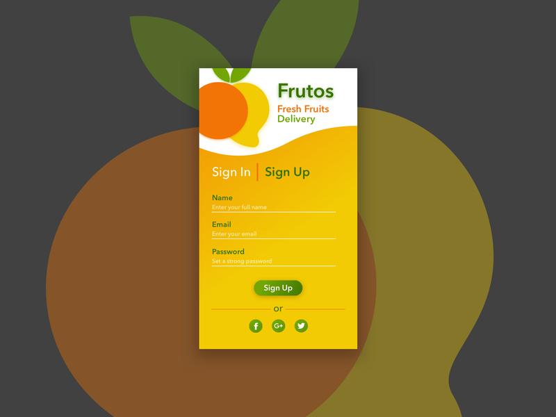 Frutos 001 dailyui delivery fruit logo ux iosapp ios uidesign ui  ux uiux fruity fruits fruit design vector minimal flat app logo ui