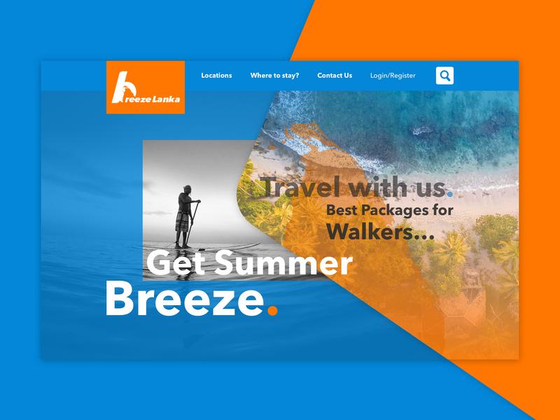 Landing Page homepage uidesign ui breeze srilanka summertime dailyui003 breezelanka landingpage dailyuichallege 003 dailyui