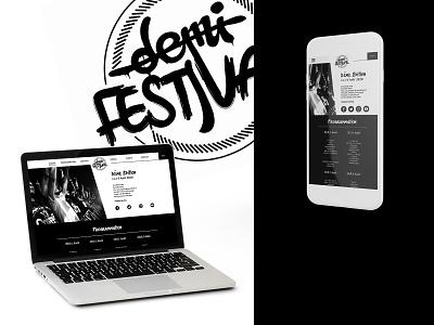 Hip-hop festival - Web Design event hip-hop website design music festival
