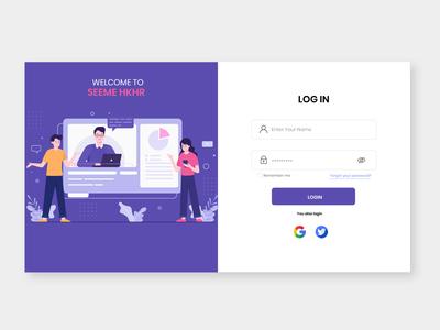 Daily UI Challenge  001 Login Screen ui design app icon vector animation logo website web ux