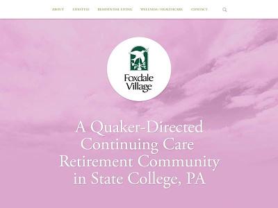 Foxdale Site Concept retirement website navigation menu clean simple