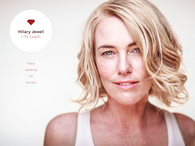 Hillary Jewell - Life Coach clean simple web design