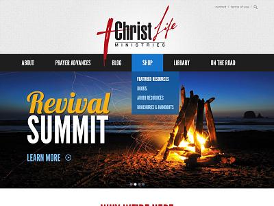 Christ Life Ministries - Header web design responsive design flat design