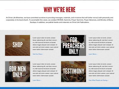 Christ Life Ministries - Body web design responsive design flat design