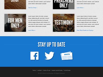 Christ Life Ministries - Footer web design responsive design flat design
