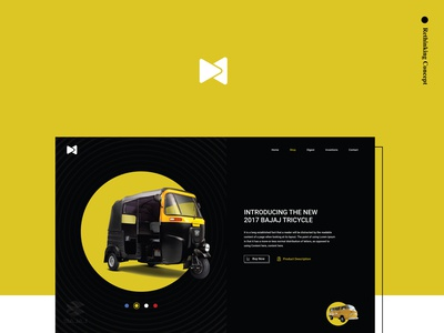 Product page design concept | Tricycle