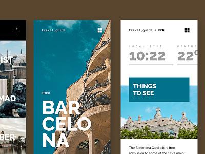 Detail travel guide travel interface ui mobile app design