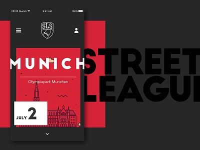Streetleague app sls munich ui design app sport skate streetleague skateboard