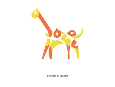 Giraffe Typography Logo identity design giraffes giraffe logo giraffe logoinspirations logoinspiration logo designer logoinspire logo a day logo mark logoidea graphicdesign graphic graphic design desgn logos logodesign logotype logo design logo