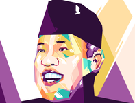 WPAP Illustration vectorart graphicdesign designgraphic vector designs design digital digitalart illustrations popup pop popart wedha wpap illustration art illustration illustrator