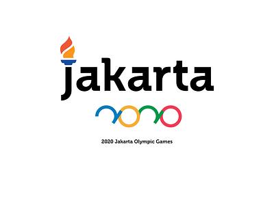 2020 Olympics Logo - Jakarta Olympic Game typeface type indonesia designer indonesia jakarta identity branding identitydesign games game olympic games olympics olympic sport logoideas logoidea design logodesign logotype logo design logo