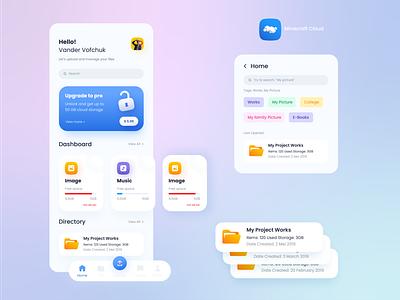 A Trendy Neumorphism Cloud App graphic design icondesign icon neumorphism appdesign app userinterfacedesign graphic design userexperience userinterface uiuxdesign uxdesign uidesign ux uiux
