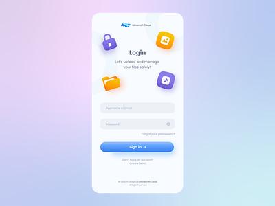 Trendy Login Page User Interface Design cloudapp login loginpage microinteractive interactivedesign appdesign app designgraphic illustrator graphicdesign userexperience uxdesign uidesign userinterface ux uiux trends