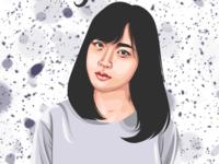 JKT 48 Shinka Juliani Vector Vexel Illustration