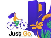 Custom Illustration - Just Go