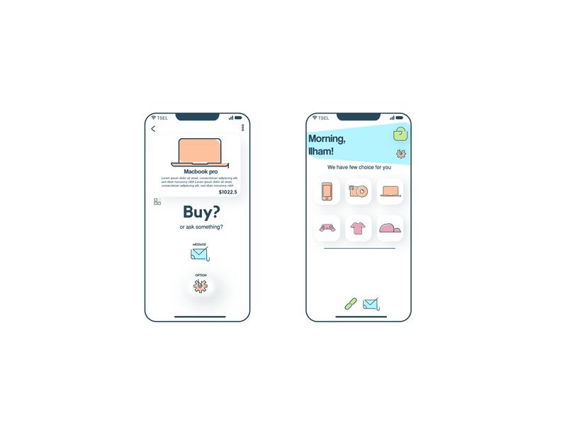 App UI Design - An App Commerce illustration illustrator multimedia designgraphic graphic uiconcept icondesigner icondesign icon vectorindoensia vector appdesigner uiux design uidesigner ui-ux uidesign appdesign