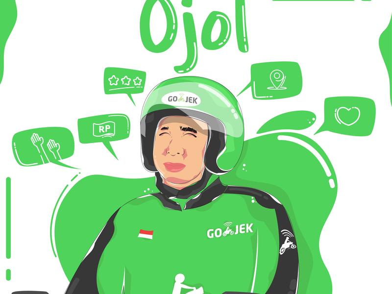 Gojek - Illustration design graphic  design graphic artwork vector artwork dribbble illustrator illustration gojekillustration vector